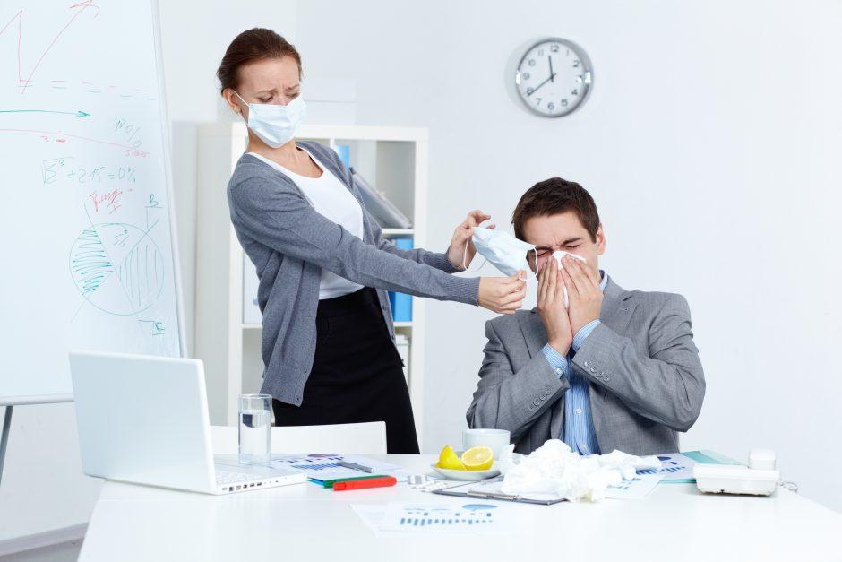Gripo epidemija jau apėmė daugiau kaip pusę šalies savivaldybių