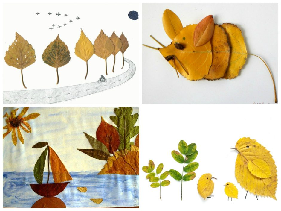 Piešiame lapais: kaip pasigaminti paveikslus ar atvirukus