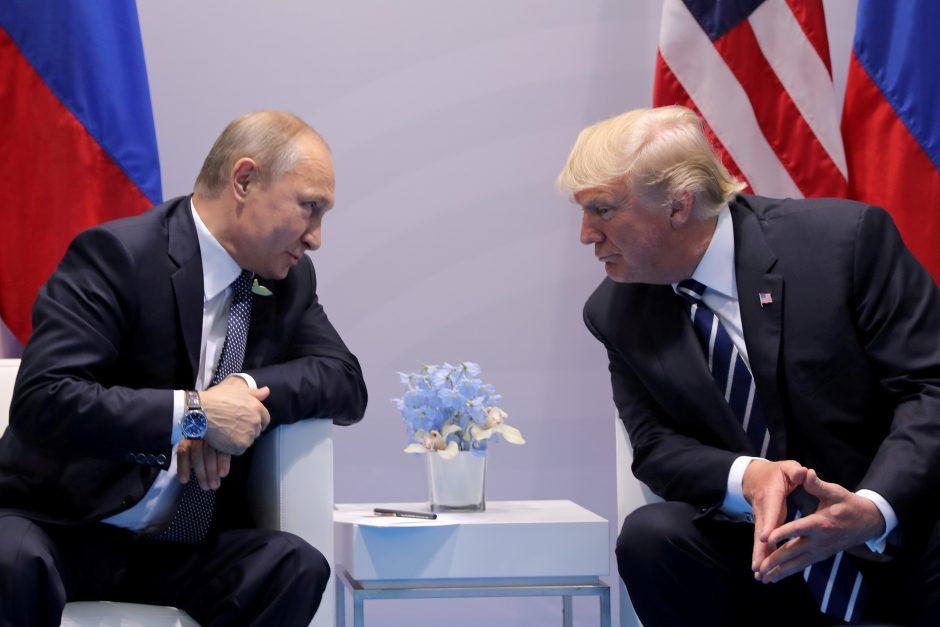 D. Trumpas pasveikino 4-ąją kadenciją pradėjusį V. Putiną
