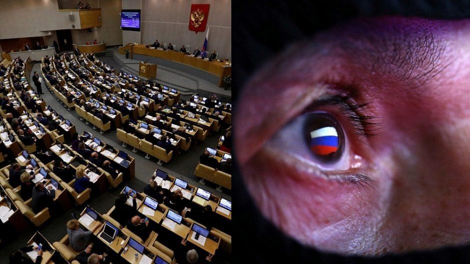 Rusijos parlamentarai pritarė įstatymui dėl šalies interneto izoliavimo