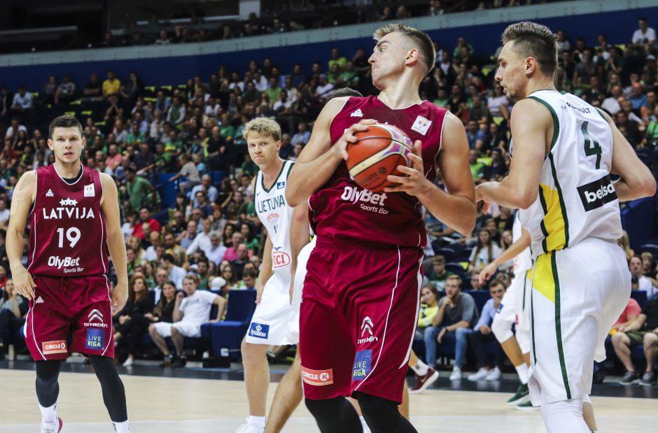Lietuvos rinktinės rungtynės su Latvijos komanda