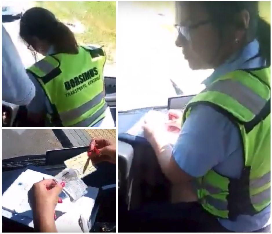 Moteris šokiruota kontrolierės elgesiu: dėl mažametės bilieto mane aprėkė ir stumdė