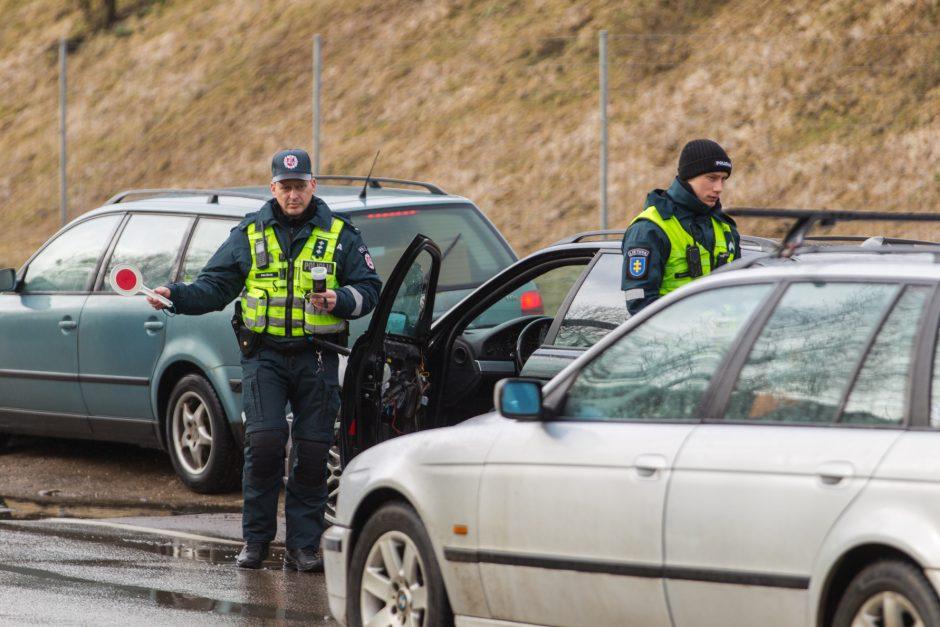 Policijos reidas Piliakalnio gatvėje