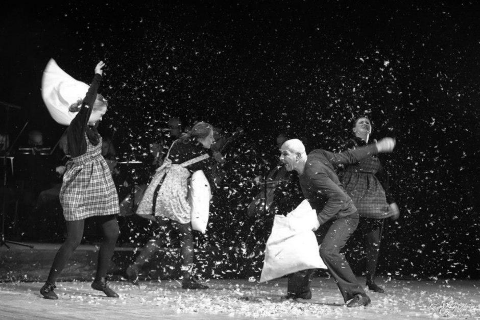 Uostamiesčio Žvejų rūmuose – A.Mažono pantomimos spektaklio premjera