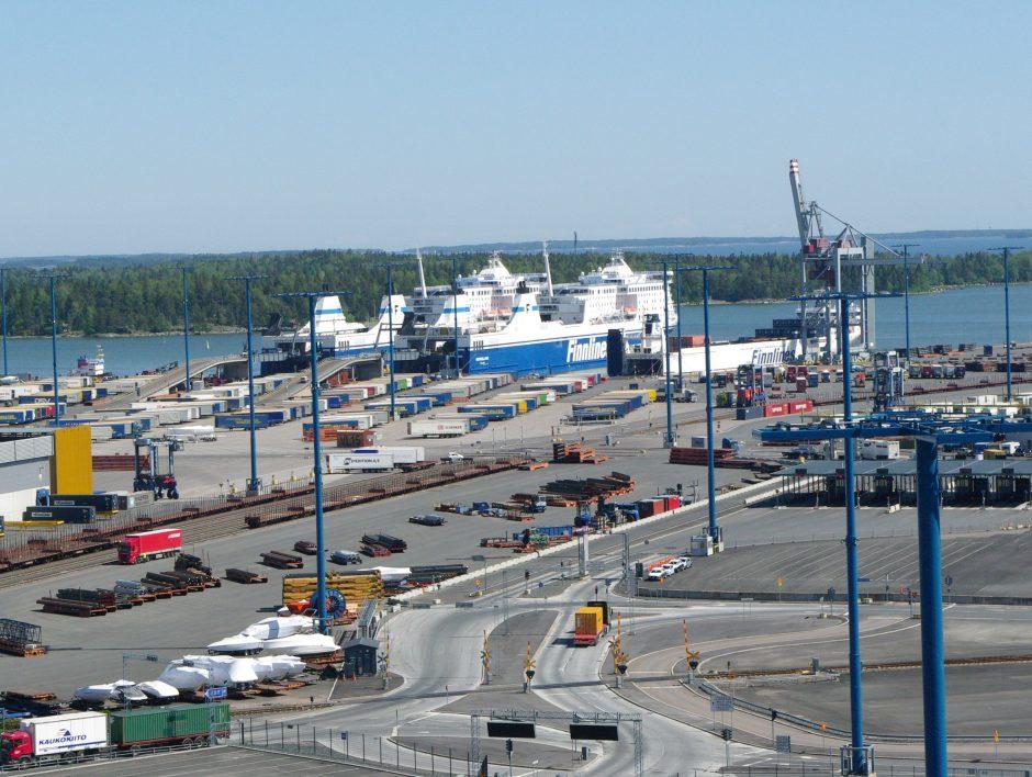 Suomijos uostai sunerimo dėl mažėjančio Rusijos tranzito