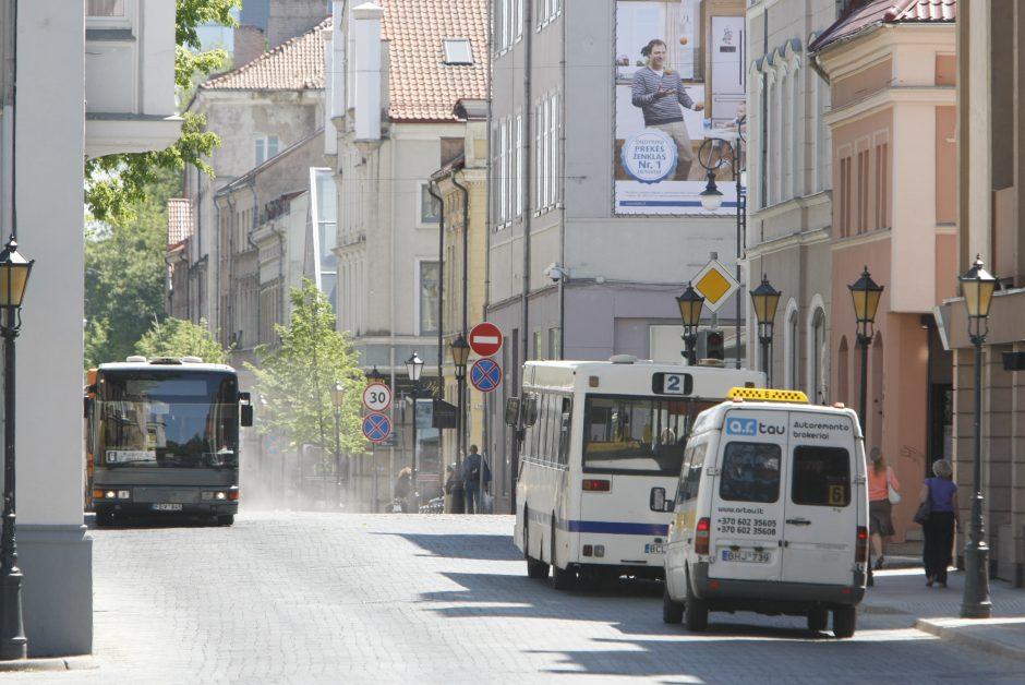 Rajoninių autobusų senamiestyje nepageidauja