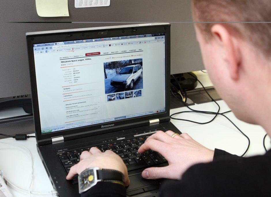 Sukčių masalas – automobilis internetu