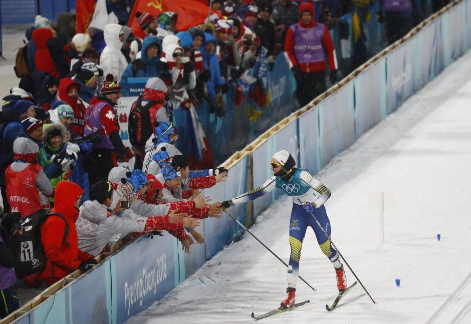 Olimpiniame slidinėjimo sprinte triumfavo švedė ir norvegas