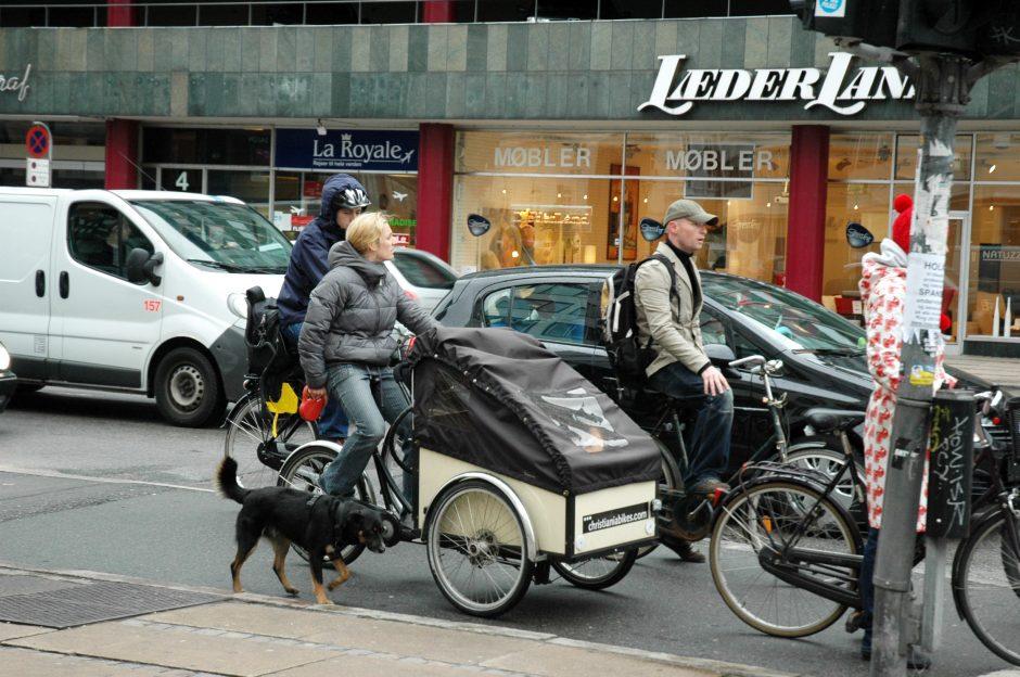 Mieste riedės krovininiai dviračiai