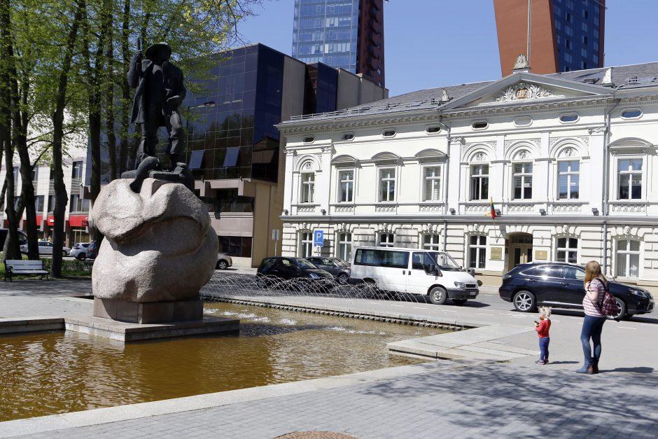 Klaipėdos miestą papuošė fontanai