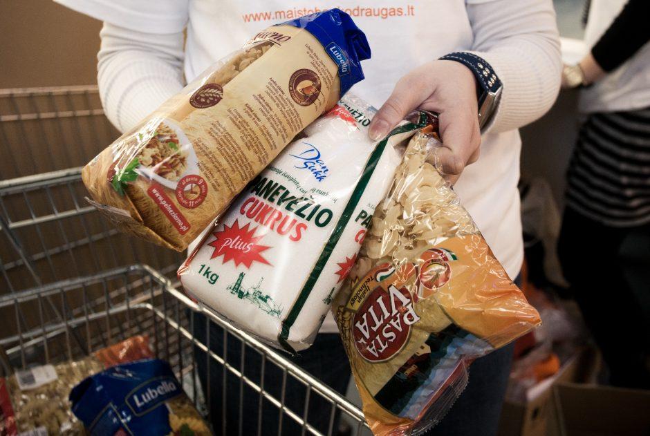 """""""Maisto banko"""" surinkti produktai vėl keliaus į labdaros valgyklas ir globos namus"""