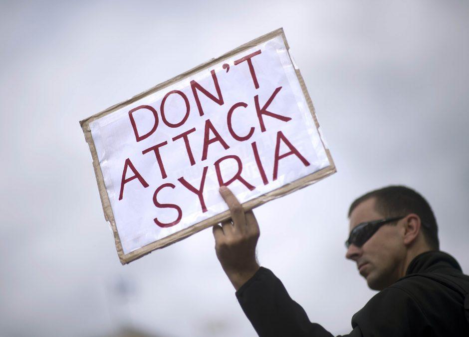 Sirijos lyderis perspėja dėl regioninio karo, jeigu Vakarai imsis karinių veiksmų