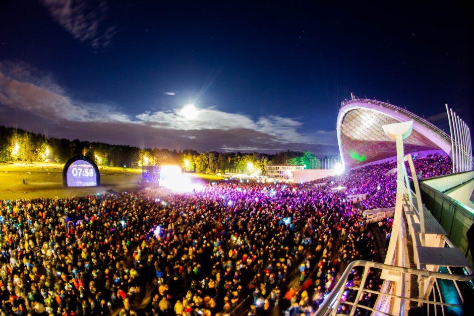 Jubiliejinis fejerverkų festivalis Vilniuje