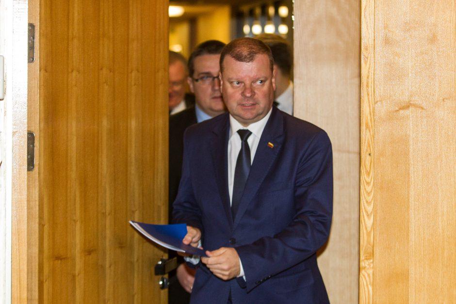Spaudos konferencija Vyriausybėje dėl ministrų atleidimo