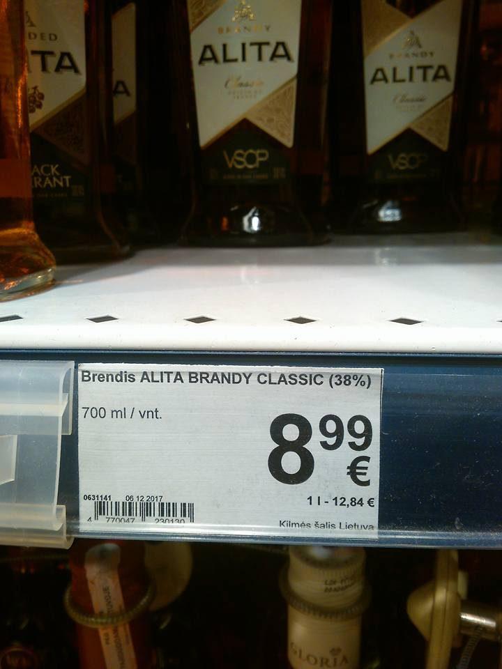 Ragina būti atidžius: 500 ml brendžio kainuoja daugiau nei 700 ml?