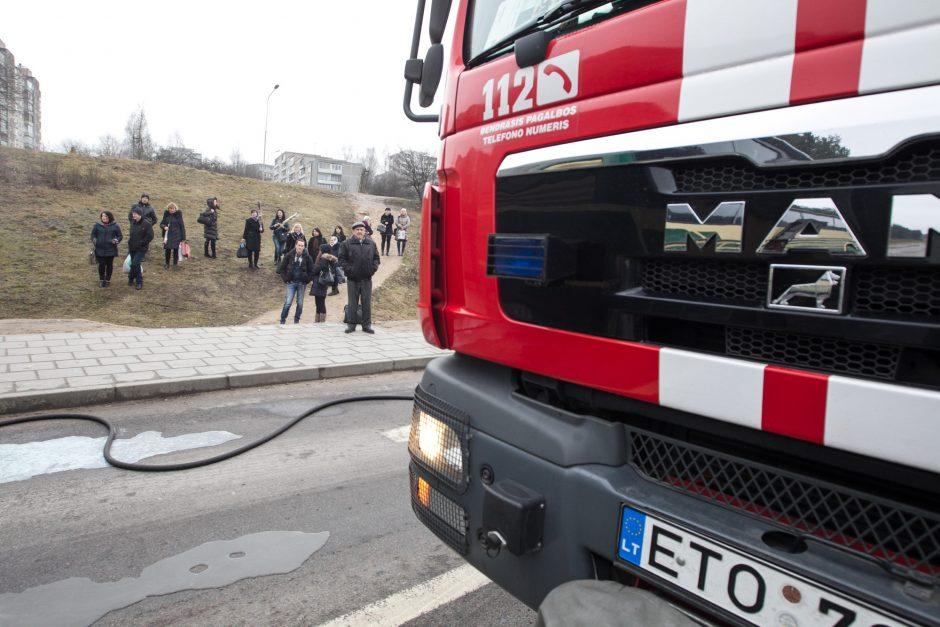 Gaisras bendrabutyje Šventojoje: evakuota 12 žmonių