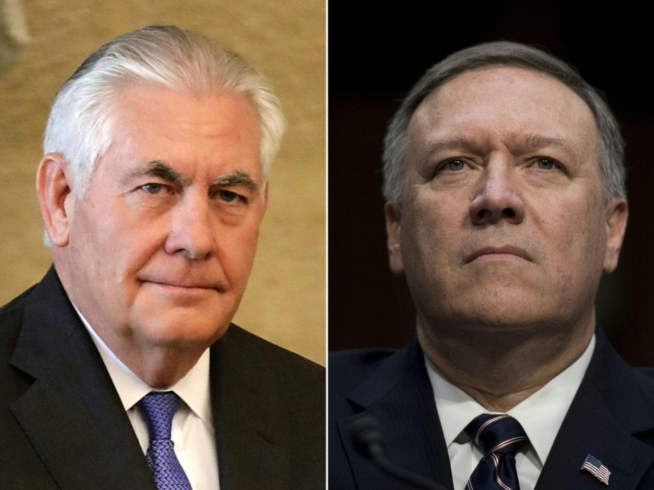 D. Trumpas atleido R. Tillersoną ir paskyrė naują valstybės sekretorių