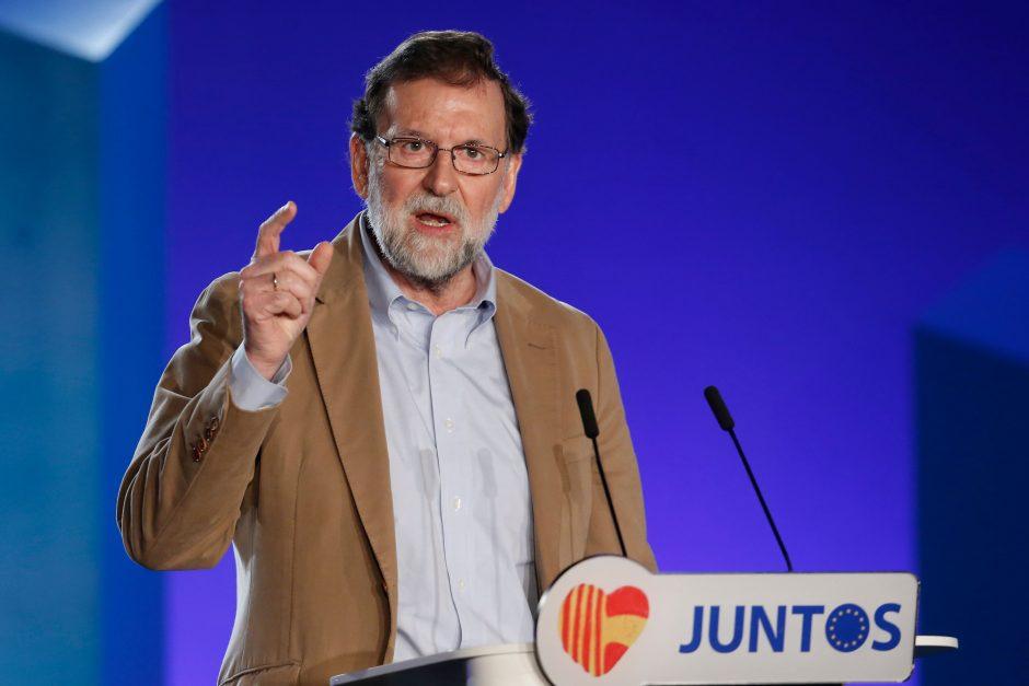 Ispanijos premjeras žada nugalėti separatistus Katalonijos rinkimuose