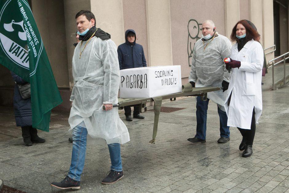 Policijos pareigūnų protestas prie Seimo