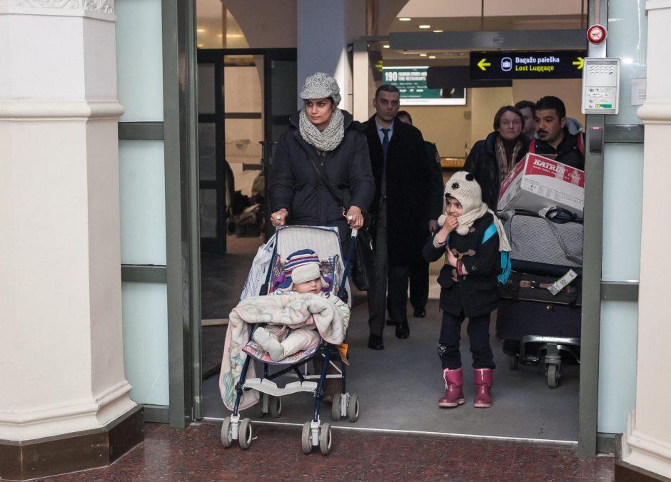 Į Lietuvą atvyko 12 pabėgėlių iš Sirijos ir Irako