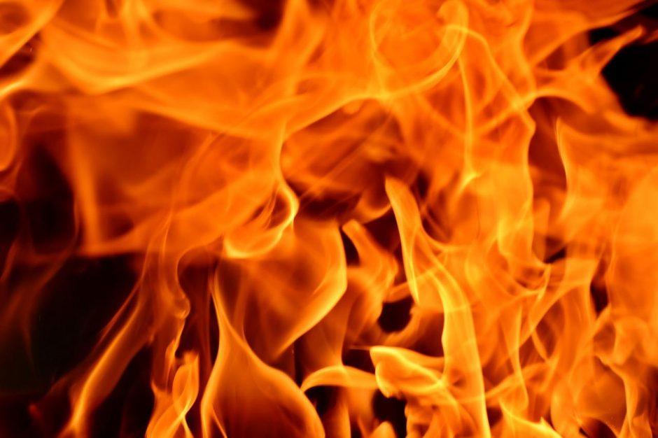 Rokiškio rajone per gaisrą žuvo vyras