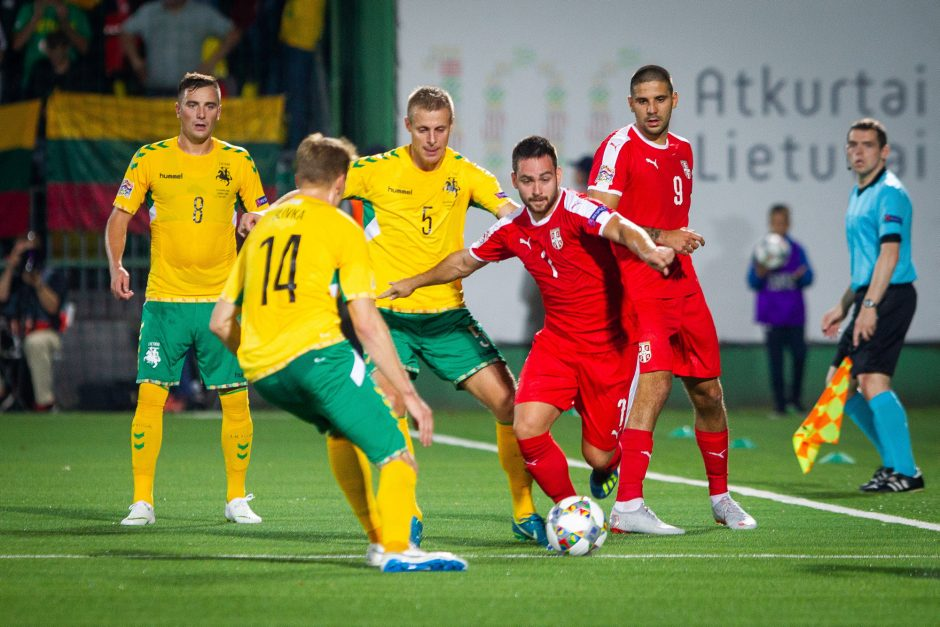 Lietuvos futbolininkai nusileido serbams
