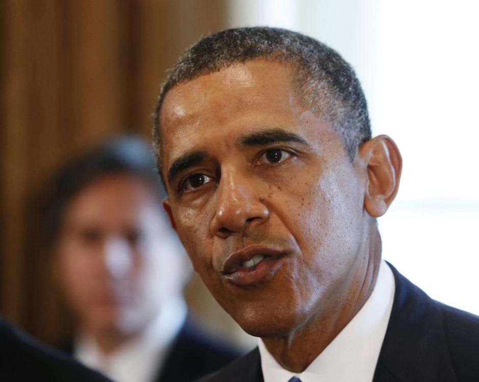B. Obama tikisi sulaukti Kongreso pritarimo veiksmams Sirijoje