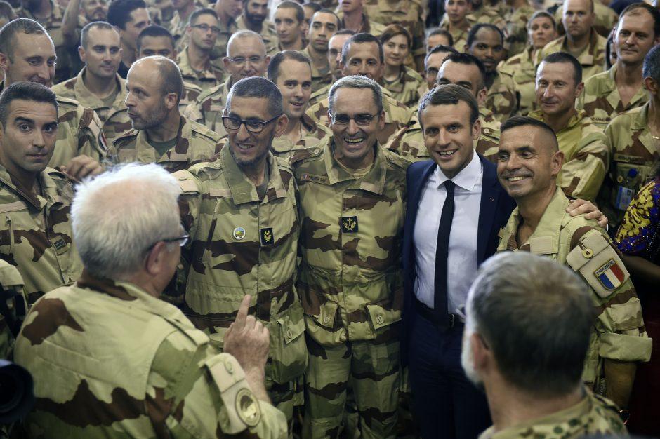 Prancūzijos prezidentas E. Macronas aplankė Malį