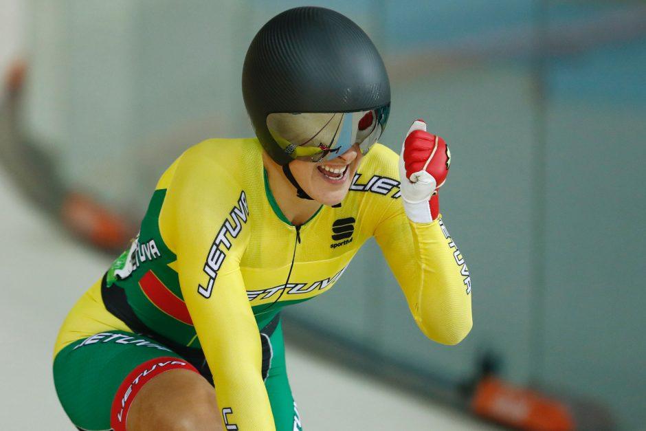 Dviratininkė S. Krupeckaitė pasaulio sprinto reitinge – antra