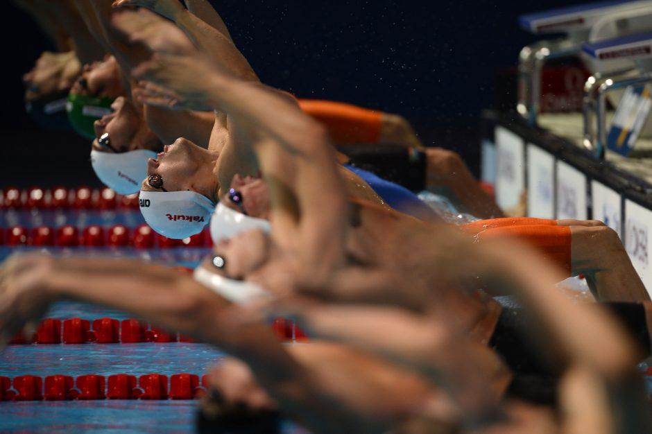 D. Rapšys - planetos plaukimo pirmenybių Ispanijoje vyrų 200 m nugara rungties pusfinalyje