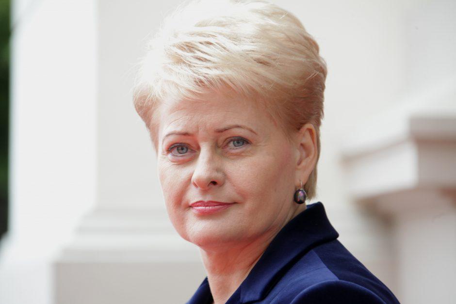 Lietuvos vadovė pasveikino L. Grigelį iškovojus Prezidento taurę