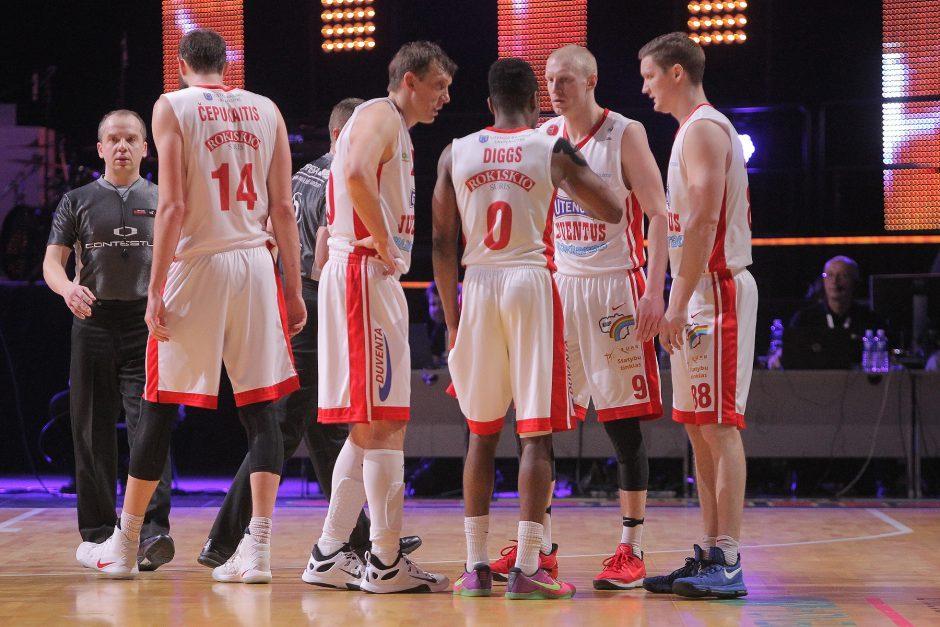 """""""Žalgiris""""  tik rungtynių pabaigoje palaužė Utenos krepšininkus"""
