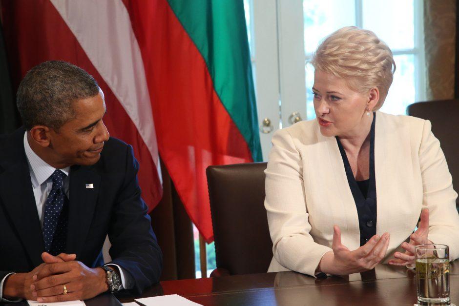 D. Grybauskaitė viešėdama JAV: esame labai patikimi