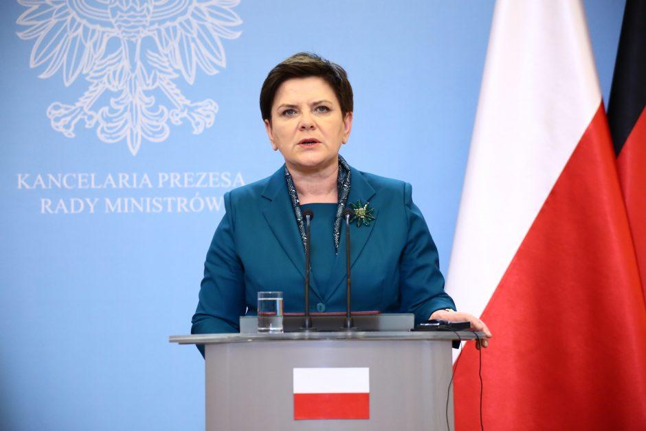 Atsistatydina Lenkijos premjerė B. Szydlo