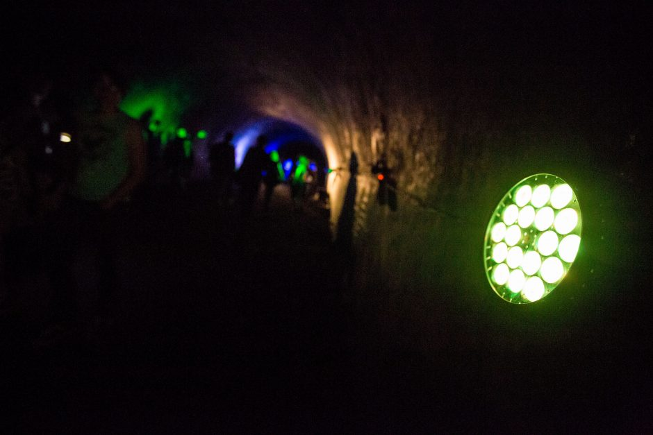 VIII forto tuneliuose išdykavo muzika ir šviesa