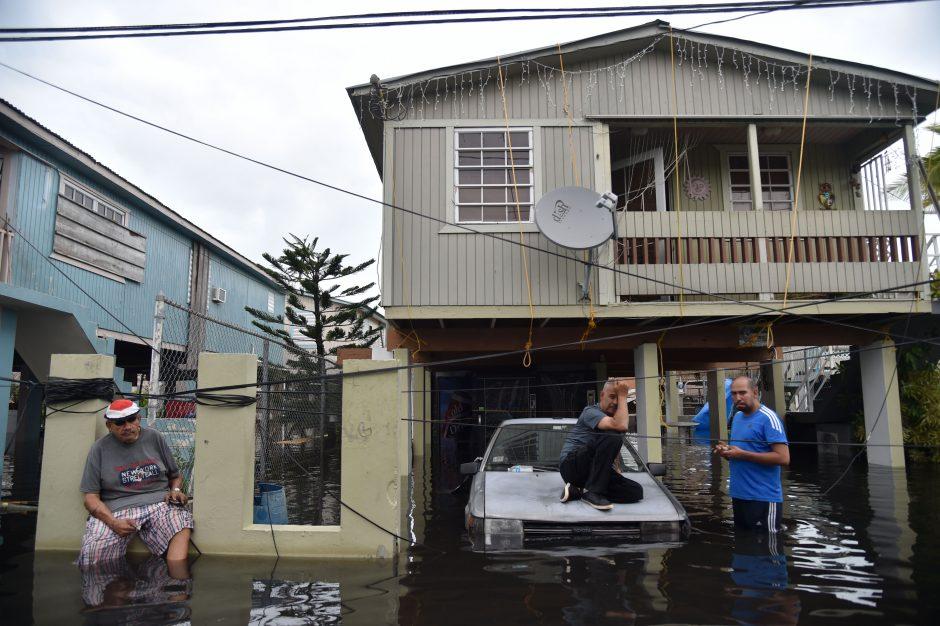 """Uragano """"Maria"""" nuniokotas Puerto Rikas"""