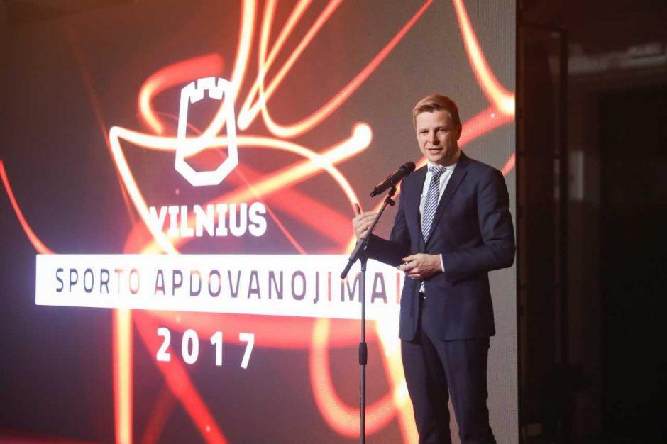"""Sostinę garsinantys sportininkai apdovanoti """"Vilniaus vilkais"""""""