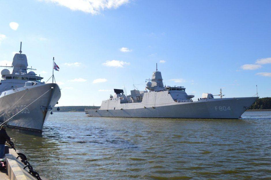 Klaipėdą aplankė karo laivai iš Belgijos ir Nyderlandų