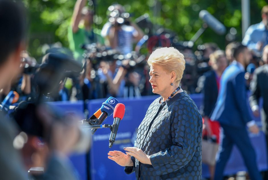 D. Grybauskaitė: JAV pasitraukimas iš Irano susitarimo daro žalą