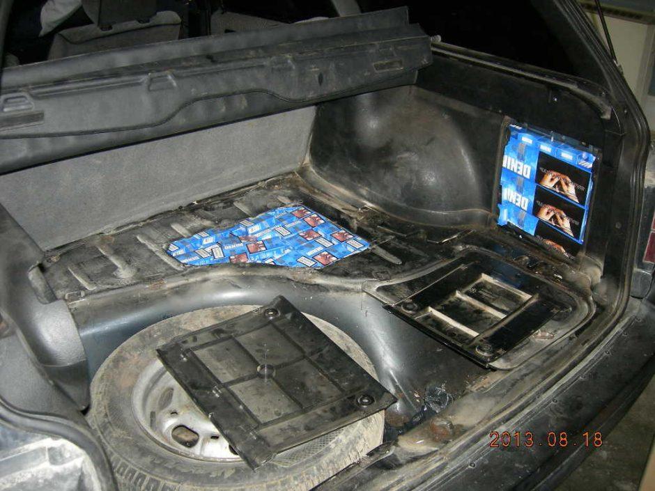 Muitininkų laimikis – kontrabandinės cigaretės už daugiau nei 64 tūkst. litų