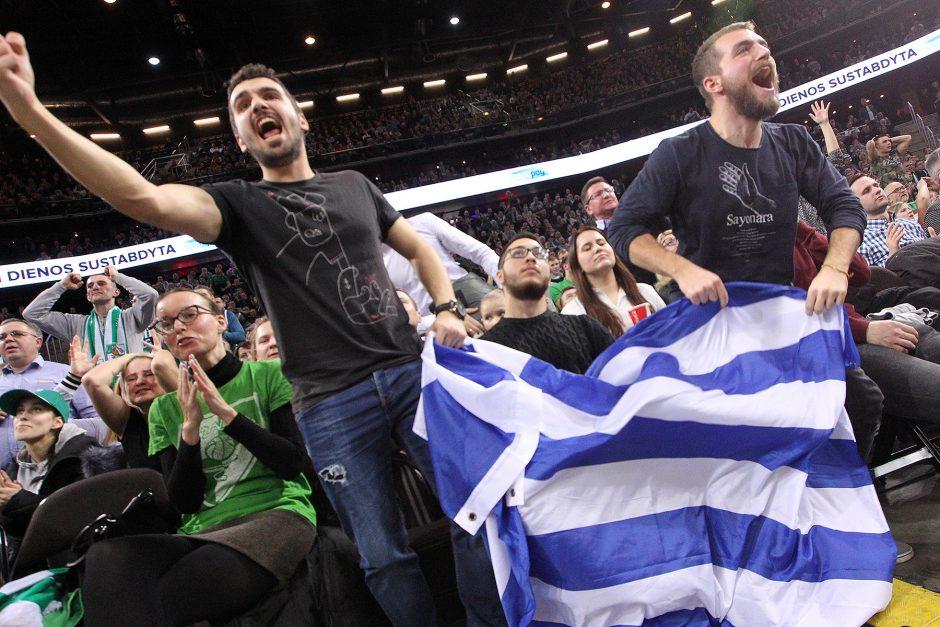 """Eurolyga: """"Žalgiris"""" – """"Panathinaikos"""" 80:74"""