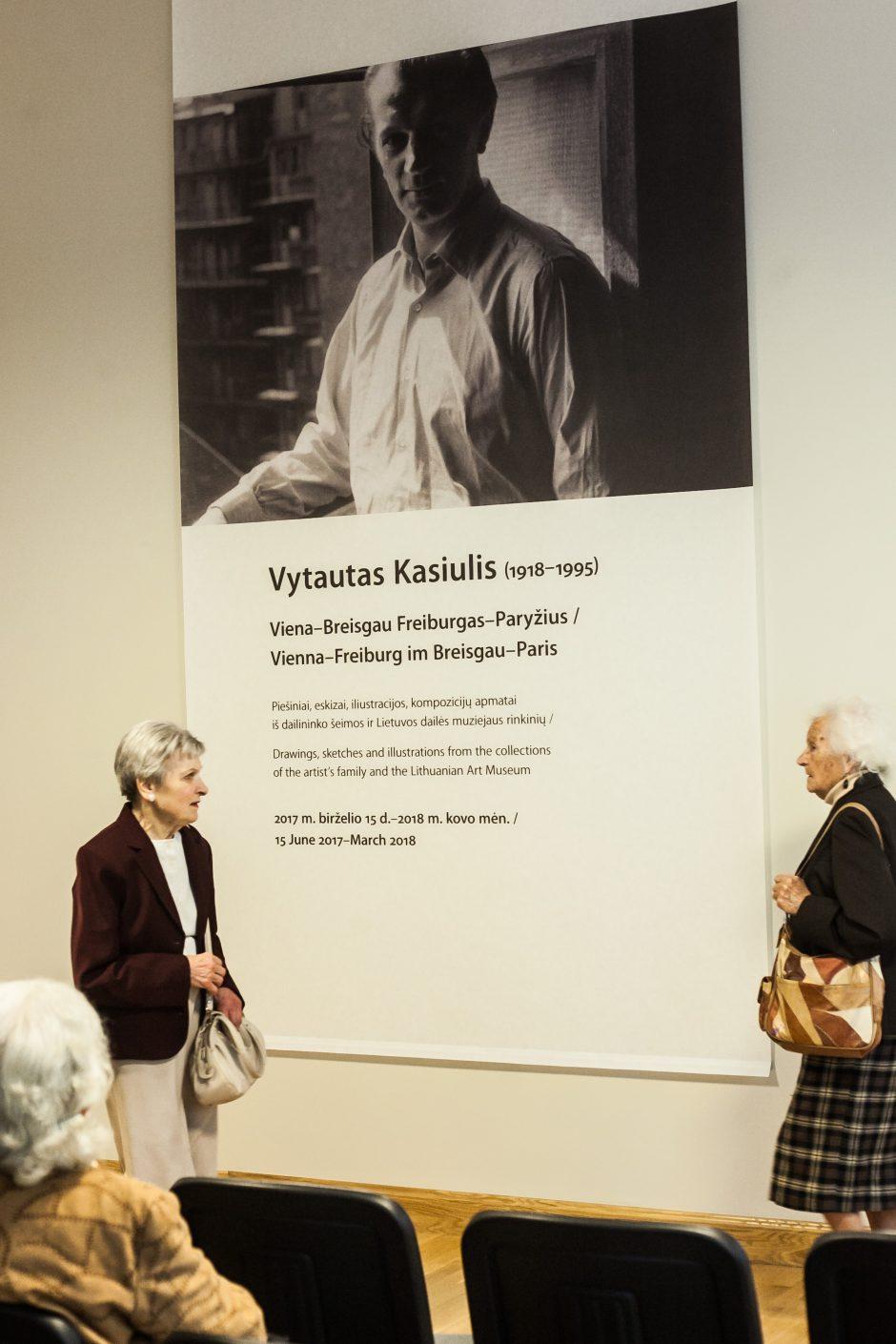 """Paroda """"Vytautas Kasiulis (1918-1995). Viena-Breisgau-Freiburgas-Paryžius"""