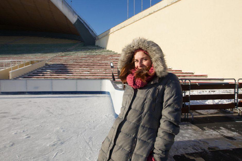Vingio parke atidaryta čiuožykla