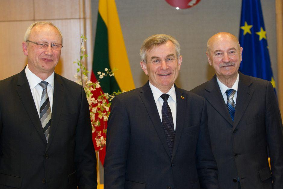Seimo pirmininkas susitiko su rektoriais
