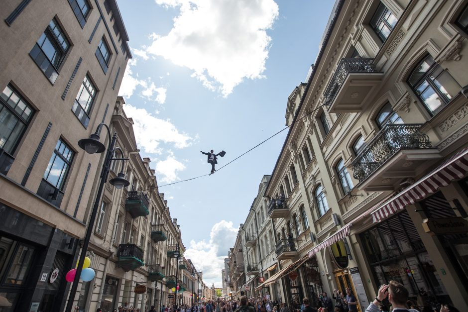Rekonstruotos Vilniaus gatvės šventėje pasiektas rekordas!