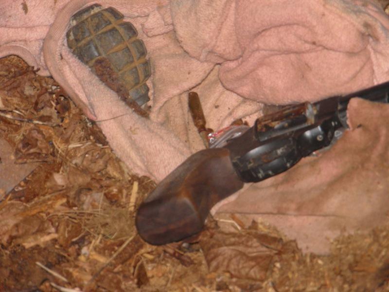 Šalčininkų rajone aptikta nelegaliai laikytų ginklų ir sprogmenų