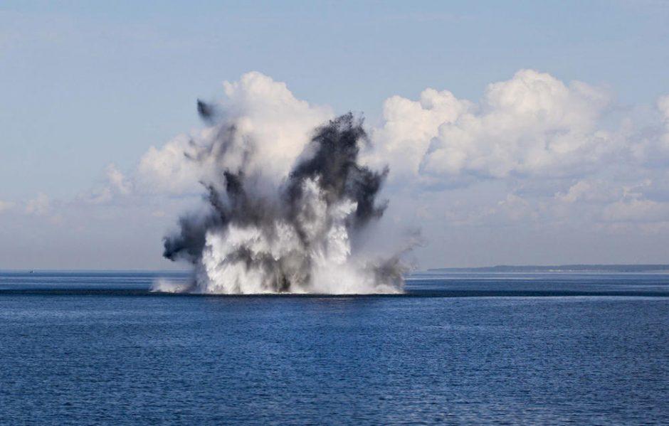 Per išminavimo operaciją jūroje aptikta minų ir nuskendusių laivų liekanų