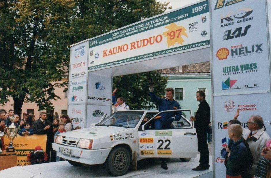 Ralio čempionas M. Jakas: automobilį matau dažniau nei žmoną