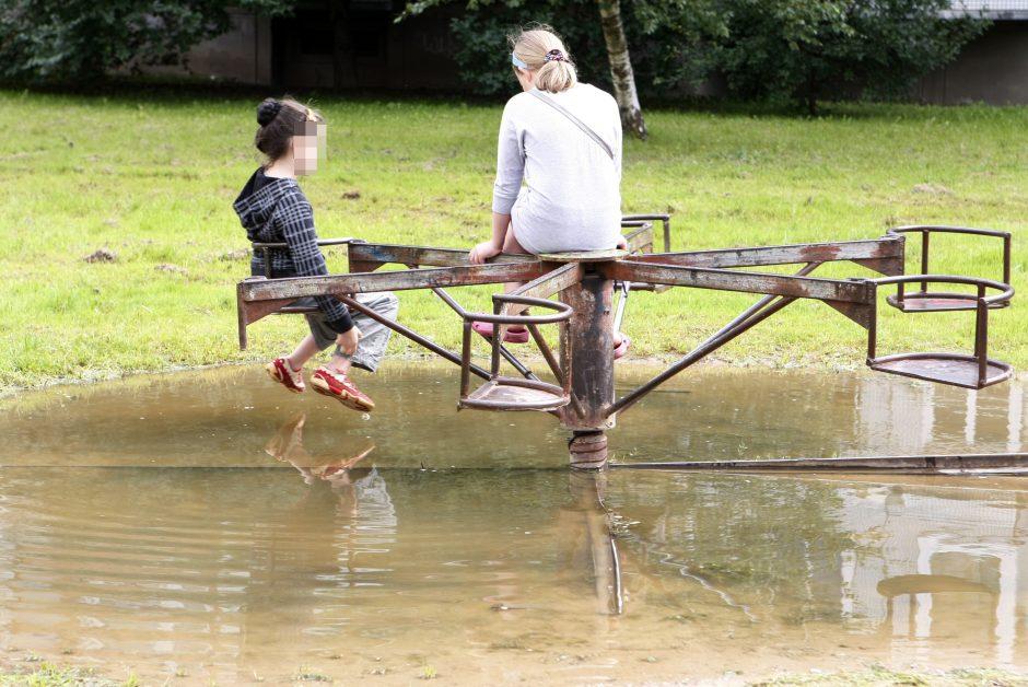 Uostamiesčio vaikų atostogos –  kieme