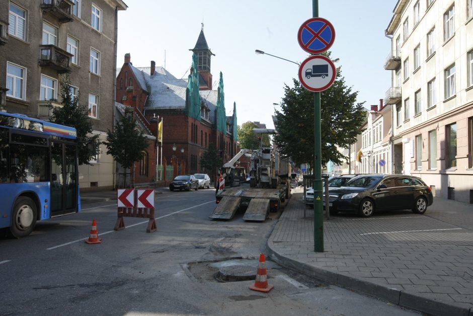 Liepų gatvės dalyje – remontas